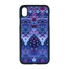 Blue Elegance Elaborate Fractal Fashion Iphone Xr Seamless Case (black) by KirstenStar
