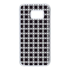 Purple Pattern Texture Samsung Galaxy S7 White Seamless Case