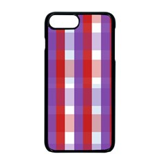 Gingham Pattern Line Iphone 8 Plus Seamless Case (black)