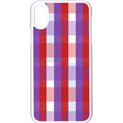 Gingham Pattern Line Iphone Xs Seamless Case (white)