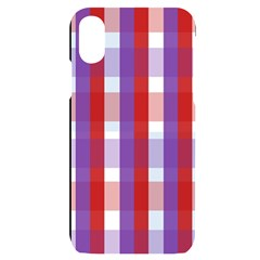 Gingham Pattern Line Iphone X/xs Black Uv Print Case