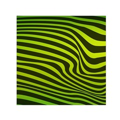 Wave Green Small Satin Scarf (square)