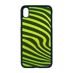 Wave Green Iphone Xr Seamless Case (black)