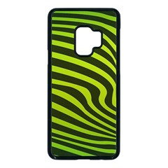 Wave Green Samsung Galaxy S9 Seamless Case(black) by HermanTelo
