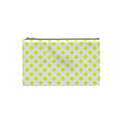 Yellow White Cosmetic Bag (small)