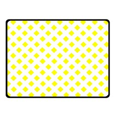 Yellow White Double Sided Fleece Blanket (small)