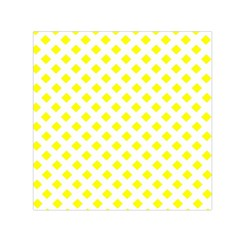 Yellow White Small Satin Scarf (square)