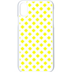 Yellow White Iphone X Seamless Case (white)