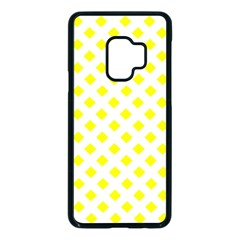 Yellow White Samsung Galaxy S9 Seamless Case(black) by HermanTelo