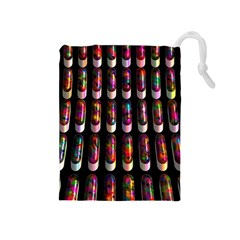 Texture Abstract Drawstring Pouch (medium)