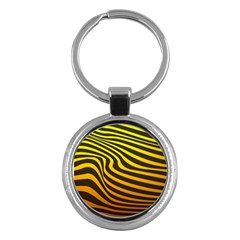 Wave Line Curve Abstract Key Chain (round) by HermanTelo