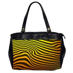 Wave Line Curve Abstract Oversize Office Handbag (2 Sides) by HermanTelo