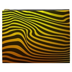 Wave Line Curve Abstract Cosmetic Bag (xxxl)