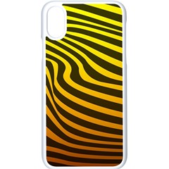 Wave Line Curve Abstract Iphone X Seamless Case (white)