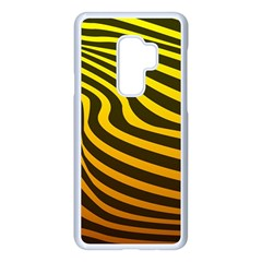 Wave Line Curve Abstract Samsung Galaxy S9 Plus Seamless Case(white)