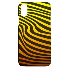 Wave Line Curve Abstract Iphone X/xs Black Uv Print Case
