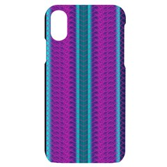 Fabric Pattern Color Structure Iphone X/xs Black Uv Print Case by Bajindul