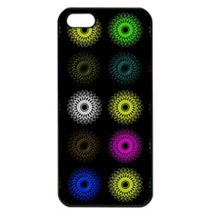 Flowers Arrangement Symmetry Iphone 5 Seamless Case (black) by Bajindul