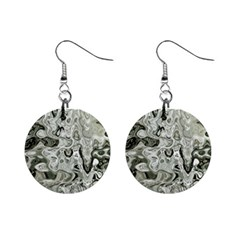 Abstract Stone Texture Mini Button Earrings
