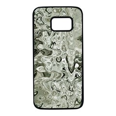 Abstract Stone Texture Samsung Galaxy S7 Black Seamless Case by Bajindul