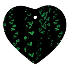 Botanical Dark Print Heart Ornament (two Sides) by dflcprintsclothing