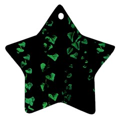 Botanical Dark Print Star Ornament (two Sides) by dflcprintsclothing