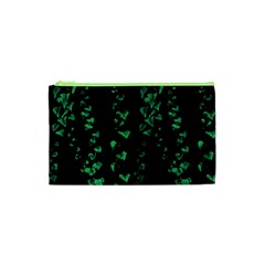 Botanical Dark Print Cosmetic Bag (xs) by dflcprintsclothing