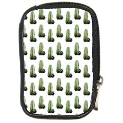 Cactus White Pattern Compact Camera Leather Case