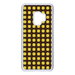 Yellow Pattern Green Samsung Galaxy S9 Seamless Case(white)