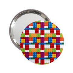 Lego Background Rainbow 2 25  Handbag Mirrors by AnjaniArt