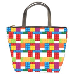 Lego Background Rainbow Bucket Bag