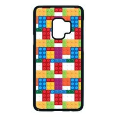 Lego Background Rainbow Samsung Galaxy S9 Seamless Case(black) by AnjaniArt