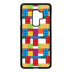 Lego Background Rainbow Samsung Galaxy S9 Plus Seamless Case(black) by AnjaniArt