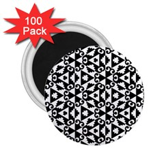 Geometric Tile Background 2 25  Magnets (100 Pack)  by Bajindul