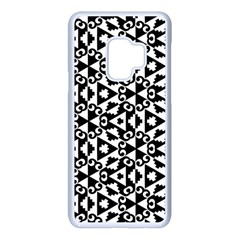 Geometric Tile Background Samsung Galaxy S9 Seamless Case(white) by Bajindul