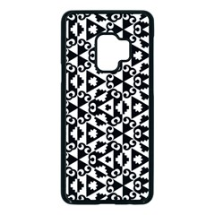 Geometric Tile Background Samsung Galaxy S9 Seamless Case(black)