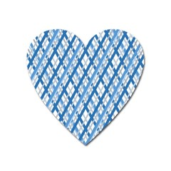Geometric Overlay Blue Heart Magnet by Bajindul