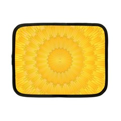 Wave Lines Yellow Netbook Case (small) by HermanTelo