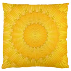 Wave Lines Yellow Large Cushion Case (two Sides)