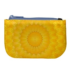 Wave Lines Yellow Large Coin Purse