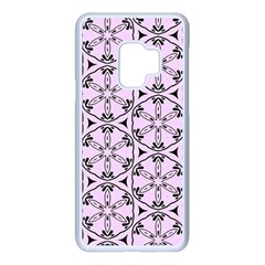 Texture Tissue Seamless Flower Samsung Galaxy S9 Seamless Case(white) by HermanTelo