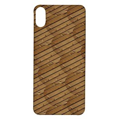 Wood Texture Wooden Iphone X/xs Soft Bumper Uv Case
