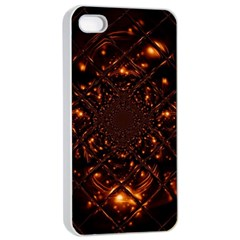 Fire Glass Fractal Iphone 4/4s Seamless Case (white)