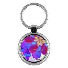 Colorful Abstract Design Pattern Key Chain (round)