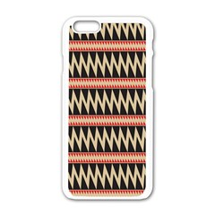 Zigzag Ethnic Pattern Background Iphone 6/6s White Enamel Case