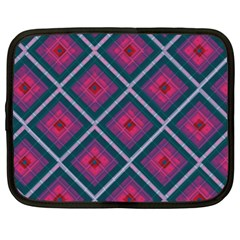Purple Textile And Fabric Pattern Netbook Case (xxl)