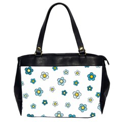 Floral Pattern Seamless Endless Oversize Office Handbag (2 Sides)