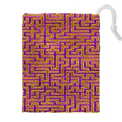 Gold Purple Abstract Background Drawstring Pouch (xxxl)