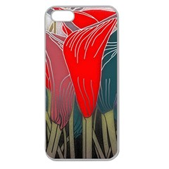 Floral Pattern Background Texture Apple Seamless Iphone 5 Case (clear) by Pakrebo
