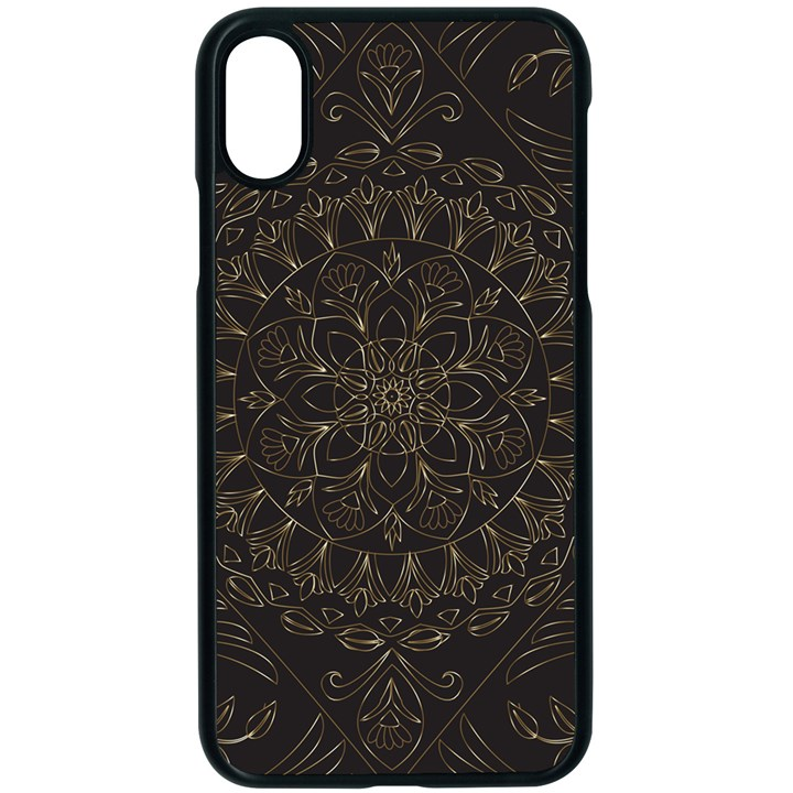 Floral Flowers Flourish Decorative iPhone X Seamless Case (Black)